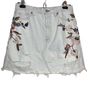 Abercrombie & Fitch Skirts - ABERCROMBIE & FITCH Vintage A-Line Denim Skirt